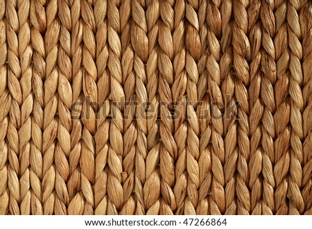 African Woven Basket texture horizontal - stock photo