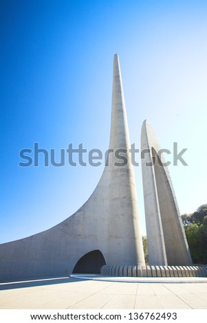 Afrikaans Language Monument in Western Cape, South Africa - stock photo