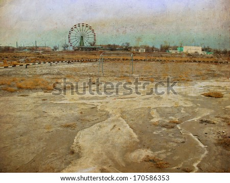 after apocalyptic - stock photo