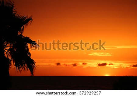 After sunset - Clearwater, Florida - stock photo