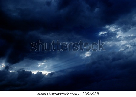 after thunder - stock photo