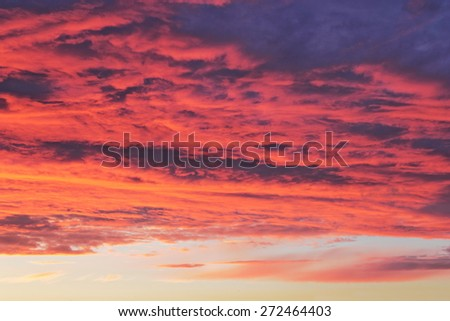 afterglow - stock photo