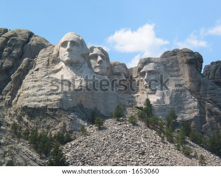 Afternoon at Mount Rushmore - stock photo