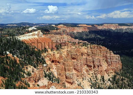 Afternoon sky in Bryce Canyon, Utah, USA. - stock photo
