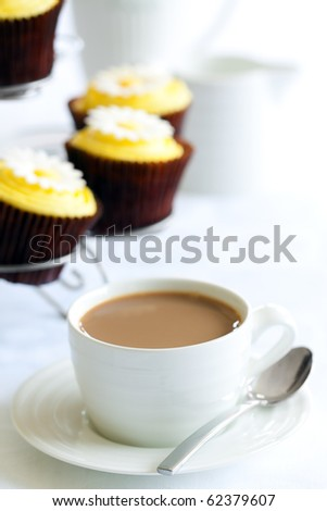 Afternoon tea or coffee - stock photo