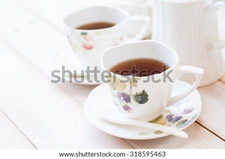 Afternoon tea, soft tone - stock photo