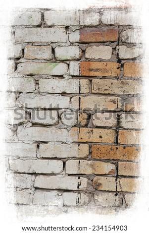 Aged brick background  - stock photo