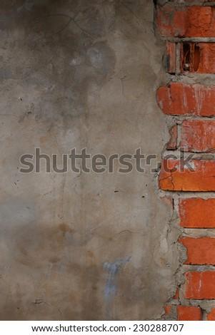 Aged brick wall texture  - stock photo