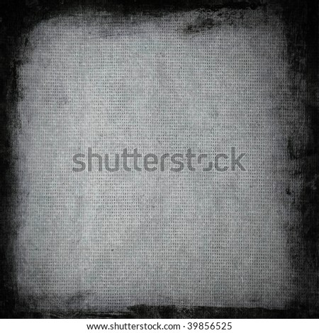 Aged canvas with border - stock photo