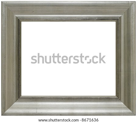 Aged Classic Wood Picture Frame - stock photo