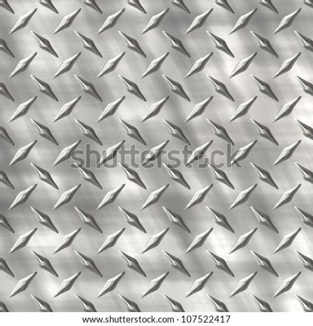 aged diamond plate - stock photo