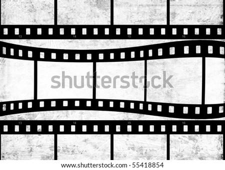 Aged film strip - stock photo
