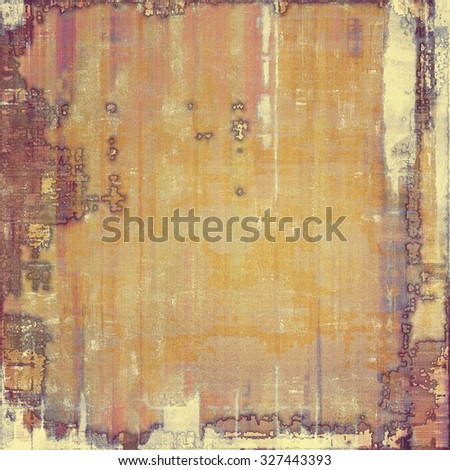 Aged grunge texture. With different color patterns: yellow (beige); brown; gray; purple (violet) - stock photo