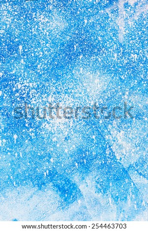 Aged old blue board snow color paint texture. - stock photo