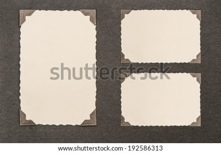 aged paper cardboard with corner. photo album page - stock photo