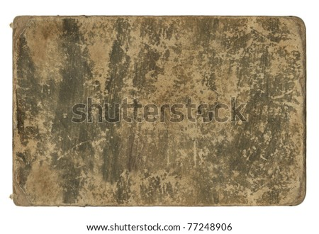 Aged paper isolated on white. - stock photo