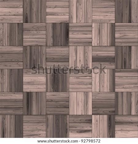 aged parquet floor - stock photo
