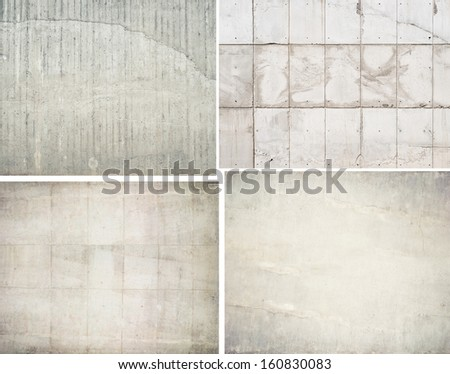 Aged wall backgrounds, concrete textures - stock photo