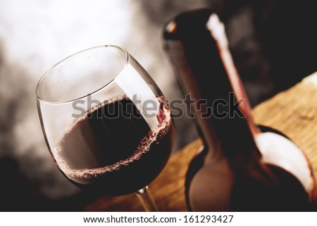 aged wine - stock photo