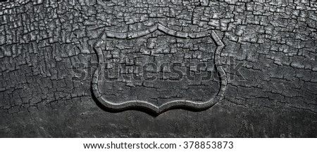 Aged worn cracked srapped car tire with  as backgroud image - stock photo