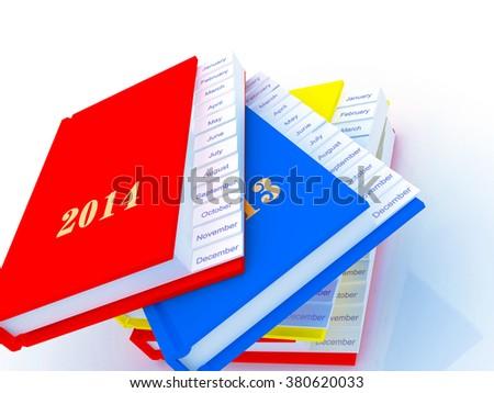 Agenda and Planner - stock photo
