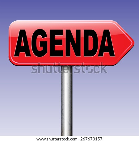 agenda timetable and business schedule organizing and planning time use for meetings and organize organization  - stock photo