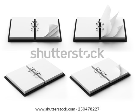 Agenda with copyspace isolated on white background - stock photo