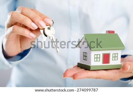 Agent, realtor, buyer. - stock photo