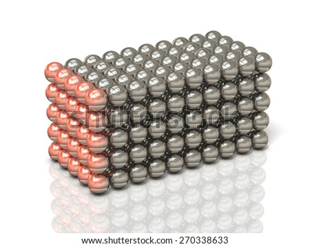 Aggregate of ball,isolated,, computer generated image - stock photo