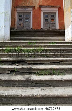 aging stairway - stock photo