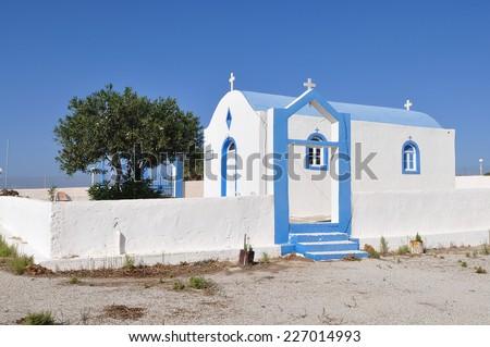 Agios Ioannis church of Kefalos,island Kos,Greece - stock photo