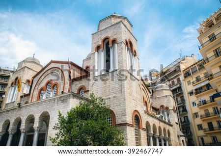 Agios Panteleimon church, Thessaloniki, Macedonia, Greece - stock photo