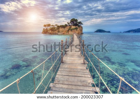 Agios Sostis in Zakynthos island,Greece  - stock photo