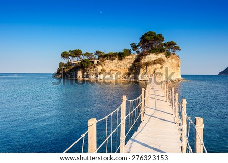 Agios Sostis, small island in Greece, Zakynthos - stock photo