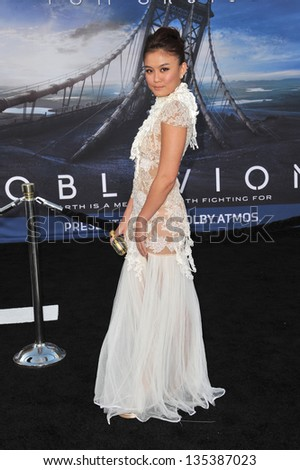 "Agnes Monica at the American premiere of ""Oblivion"" at the Dolby Theatre, Hollywood. April 10, 2013  Los Angeles, CA Picture: Paul Smith - stock photo"