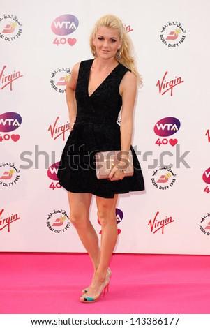 Agnieszka Radwanska arriving for the WTA Pre-Wimbledon Party 2013 at the Kensington Roof Gardens, London. 20/06/2013 - stock photo