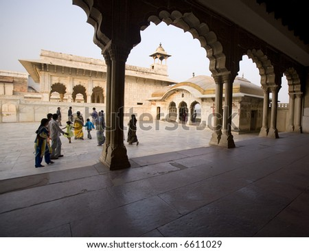 Agra, Red Fort - stock photo