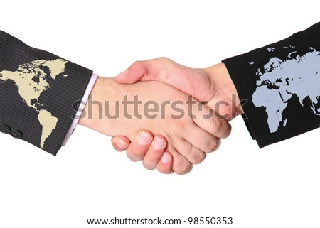 Agreement between the continents - stock photo