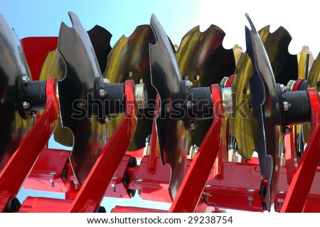 agricultural equipment for fields - stock photo