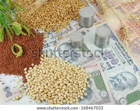 Agricultural income. - stock photo