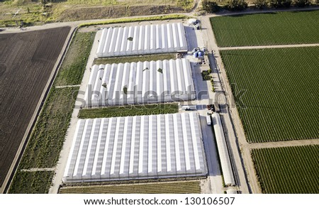 Agriculture Aerial View - stock photo