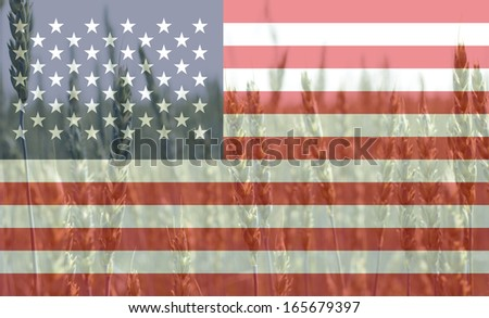 Agriculture and farming concept: USA - stock photo