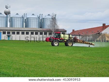 Agriculture farm technology farming business - stock photo