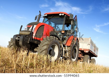 Agriculture - tractor - stock photo