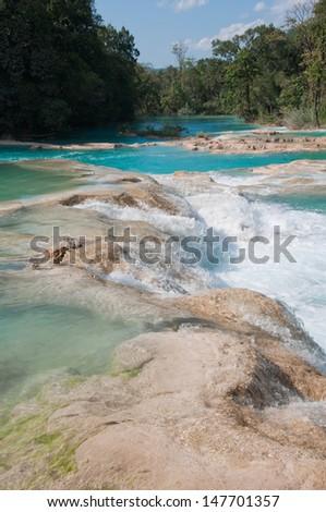 Agua Azul waterfalls, Chiapas (Mexico) - stock photo