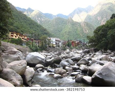 Aguas Caliente, Machu Picchu Town, Peru - stock photo