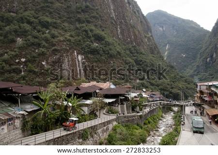 Aguas Calientes - Peru - stock photo