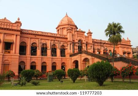 Ahsan Manjil, also called The Pink Palace, Dhaka, Bangladesh - stock photo