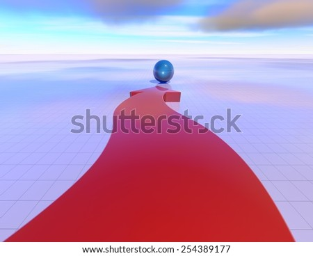 Aim, objective abstract concept with arrow and blue sky. - stock photo