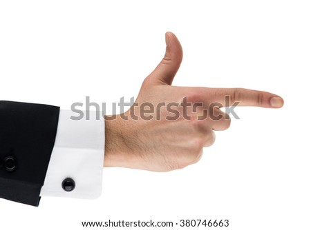 Aiming-  hand sign - stock photo